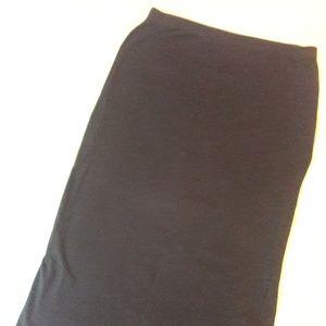 Long Black Pencil Skirt